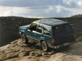 [Image: 1992 Explorer on top of the rock]